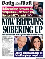 Daily Mail (UK) Newspaper Front Page for 6 February 2019