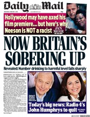Daily Mail () Newspaper Front Page for 6 February 2019
