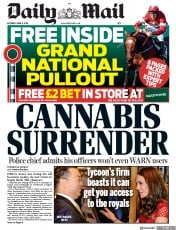 Daily Mail () Newspaper Front Page for 6 April 2019
