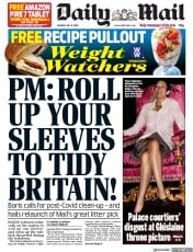 Daily Mail front page for 6 July 2020