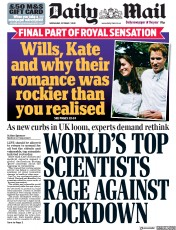 Daily Mail front page for 7 October 2020