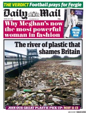 Daily Mail (UK) Newspaper Front Page for 7 May 2018