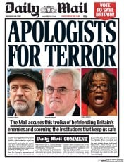Daily Mail Uk Newspaper Front Page For