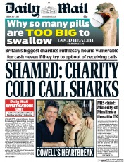 Daily Mail (UK) Newspaper Front Page for 7 July 2015