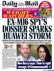 Daily Mail front page for 7 July 2020