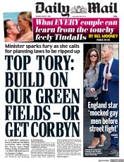 Daily Mail (UK) Newspaper Front Page for 7 August 2018
