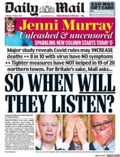Daily Mail front page for 8 October 2020