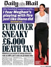 Daily Mail () Newspaper Front Page for 8 February 2019