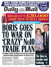 Daily Mail (UK) Newspaper Front Page for 8 May 2018
