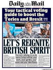 Daily Mail (UK) Newspaper Front Page for 8 June 2017