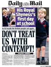 Daily Mail (UK) Newspaper Front Page for 8 September 2017