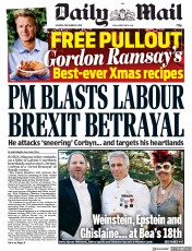 Daily Mail () Newspaper Front Page for 9 December 2019