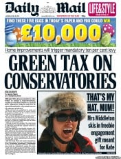 Daily Mail Newspaper Front Page (UK) for 9 April 2012