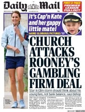 Daily Mail (UK) Newspaper Front Page for 9 August 2019
