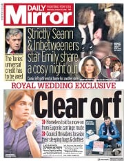 Daily Mirror (UK) Newspaper Front Page for 10 October 2018