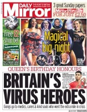 Daily Mirror front page for 10 October 2020