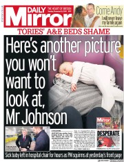 Daily Mirror (UK) Newspaper Front Page for 10 December 2019