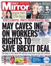 Daily Mirror (UK) Newspaper Front Page for 10 January 2019