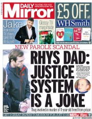 Daily Mirror (UK) Newspaper Front Page for 10 February 2018