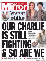 Daily Mirror (UK) Newspaper Front Page for 10 July 2017