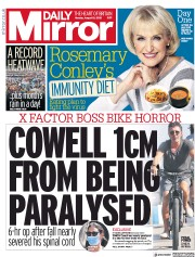 Daily Mirror front page for 10 August 2020