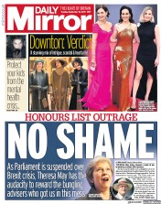 Daily Mirror (UK) Newspaper Front Page for 10 September 2019