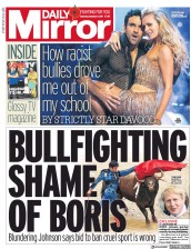 Daily Mirror (UK) Newspaper Front Page for 11 November 2017