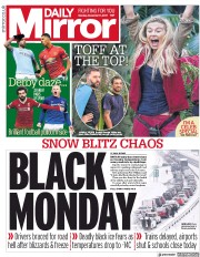 Daily Mirror (UK) Newspaper Front Page for 11 December 2017
