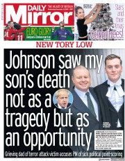 Daily Mirror () Newspaper Front Page for 11 December 2019