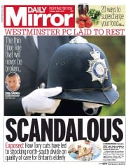 Daily Mirror (UK) Newspaper Front Page for 11 April 2017
