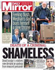 Daily Mirror (UK) Newspaper Front Page for 11 April 2018