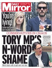 Daily Mirror (UK) Newspaper Front Page for 11 July 2017