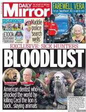 Daily Mirror front page for 11 July 2020