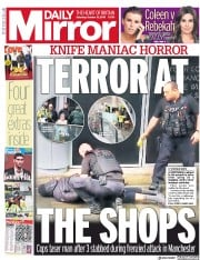 Daily Mirror (UK) Newspaper Front Page for 12 October 2019