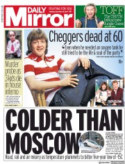 Daily Mirror (UK) Newspaper Front Page for 12 December 2017