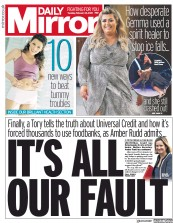 Daily Mirror (UK) Newspaper Front Page for 12 February 2019