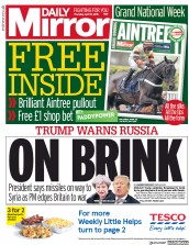 Daily Mirror (UK) Newspaper Front Page for 12 April 2018