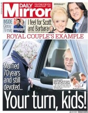 Daily Mirror (UK) Newspaper Front Page for 12 May 2018