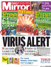 Daily Mirror front page for 12 September 2020