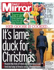 Daily Mirror (UK) Newspaper Front Page for 13 December 2018