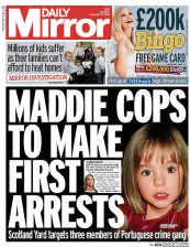 Daily mirror uk front page for 13 january 2014 paperboy online