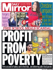 Daily Mirror front page for 13 January 2021
