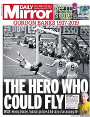 Daily Mirror () Newspaper Front Page for 13 February 2019