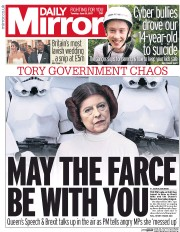 Daily Mirror (UK) Newspaper Front Page for 13 June 2017