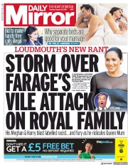 Daily Mirror (UK) Newspaper Front Page for 13 August 2019