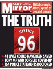 Daily Mirror Newspaper Front Page (UK) for 13 September 2012