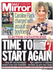 Daily Mirror () Newspaper Front Page for 14 December 2019
