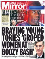 Daily Mirror (UK) Newspaper Front Page for 14 February 2018