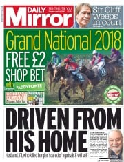 Daily Mirror (UK) Newspaper Front Page for 14 April 2018