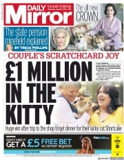 Daily Mirror () Newspaper Front Page for 14 August 2019